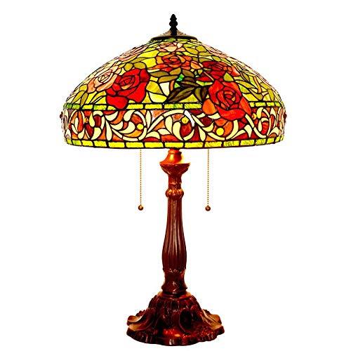 大切な ティファニースタイルのテーブルランプ B07QFQT39S、ローズガラスのテーブルランプ、レトロなリビングルーム、装飾ナイトライト B07QFQT39S, 新品即決:d929b27c --- wattsimages.com