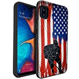 CasesOnDeck Dual Layer Case Compatible with [Samsung Galaxy A10e / A10e Case] [Embossed Duo] Dual Layer Corner Guard Case USA Flag Sports -Hockey