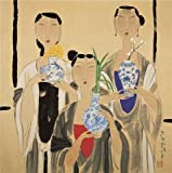 Beautiful Oil Paints on Canvas Without Stretch and Without Frame ,Hu Yongkai,Harbinger of the Spring,21th century, is the best gift for your relatives, or girl friend and boy friend. That is also for Bar, Basement, Bathroom, Bedroom, Dining R...