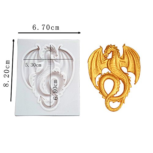 Dragon Candy - Joinor Cute Flying Dragon Silicone Fondant Mold, Candy, Chocolate Mold