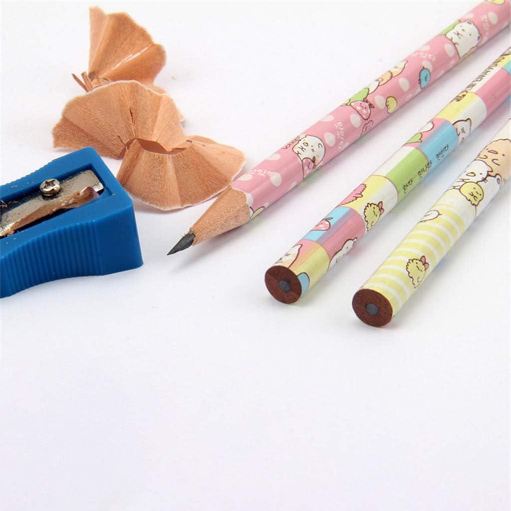 Mwergkou 12pcs Wooden Pencil Cute Kawaii Pencils School Office Supplies Stationery Student Personality Gift Art Supplies