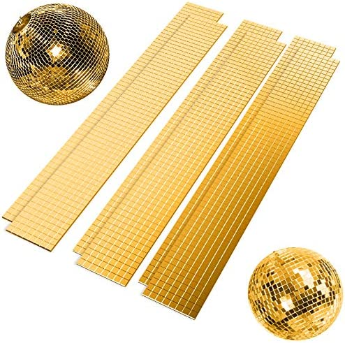Yookat 2880Pcs Self-Adhesive Mini Square Glass Mini Mirror Stickers Square Glass Mirrors Mosaic Tiles for Decorative Craft DIY Silver Gold and Rose Gold, 5 x 5 mm