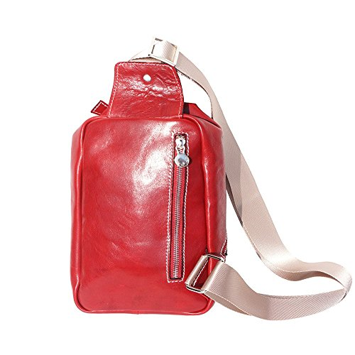 Genuine Calfskin Waist Red Mens For In Bag 6561 Made Leather Hq46ww