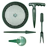 buy KINGLAKE Set of 5 - Mini Garden Hand Seedling Tool Sets Garden Soil Sieve, Dial Seed Sower, Pistol Grip Dibber, Transplanting Widger and Dibber now, new 2019-2018 bestseller, review and Photo, best price $10.39