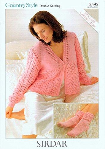Sirdar Ladies Bed Jacket Socks Knitting Pattern 5595 Dk Amazon