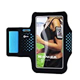 Armband, Snugg8482; Running Band - Adjustable Lightweight Cover For Phones – Fits iPhone 7, 6, 5/5c/5s, 4/4s, Samsung Galaxy S7 and S7 Edge [Card & Key Slots]