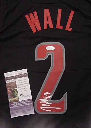 John Wall Washington Wizards Autographed Black Fadeaway #2 Jersey JSA COA by Sports-Autographs