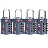 4 Digit TSA Approved Luggage Lock, 4 Pack