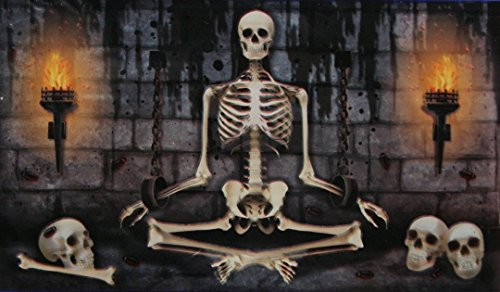 Spooky Halloween Decor Decorative Door or Wall Banner - 42x72 Inches (Skeleton Dungeon 1)]()