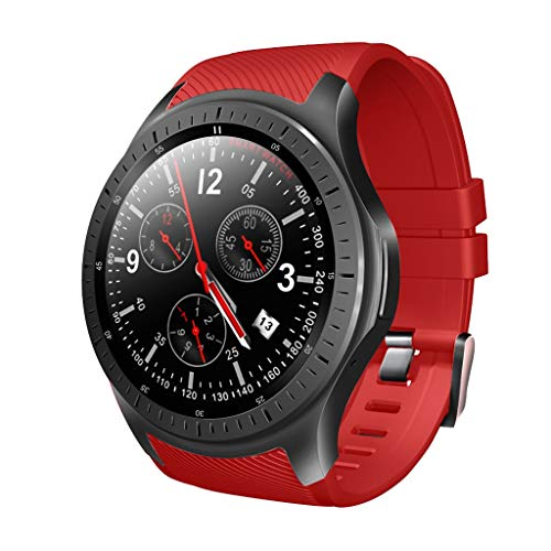 S Smart Sports Watch HD Large Screen Display Bluetooth 4.0 1G 16G (red) ()
