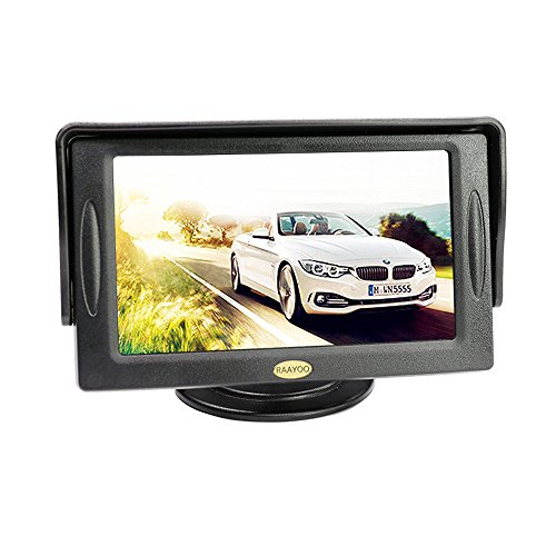 4.3 Inch Color TFT LCD Color Car Rear View Display Screen Monitor Auto Parking Rearview Reverse Backup Monitor by RAAYOO