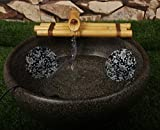 Bamboo Water Fountain Medium 12 Inch Three Arm Style with Pump, Indoor or Outdoor Zen Garden Decor Fountain, Natural, Split Resistant Bamboo, Combine with Any Container to Create Your Own Fountaion