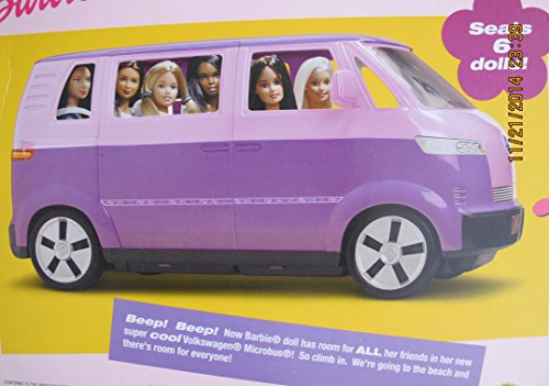 Barbie Volkswagen Microbus Vehicle Suv Van Purple W Working Horn Amp Sliding Door Seats 6