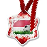 Christmas Ornament Soccer Team Flag Indonesia, red - Neonblond