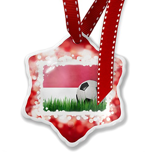 Christmas Ornament Soccer Team Flag Indonesia, red - Neonblond by NEONBLOND