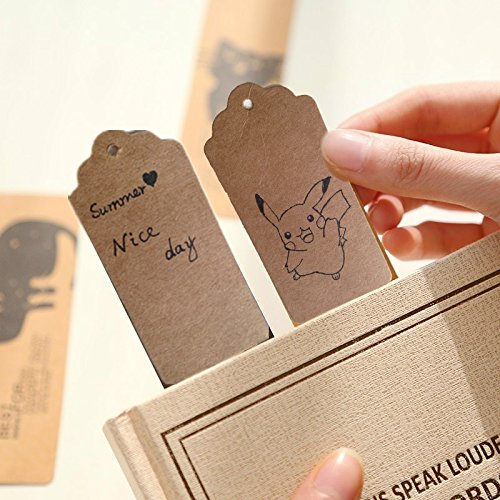 200 unidades tarjetas etiquetas colgantes de papel kraft 40 metros