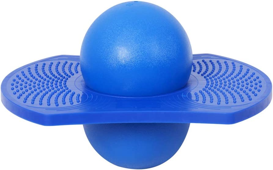 WELINK Pogo Ball with Trick Balance Bounce Board Max Bearing 220lb Anti-Slip Pogo Jump Toy with Pump for Kids Teens Adults Red