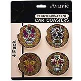 Avamie Car Coasters 4 Pack, Car Cup Holder