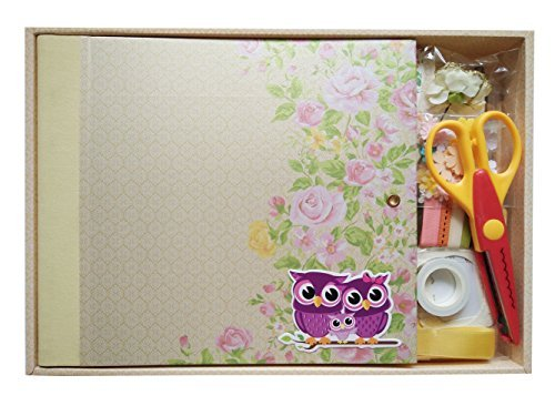IDULL 8x8 Scrapbook Kits for Teen Girls to Make a Keepsake Book (Yellow)