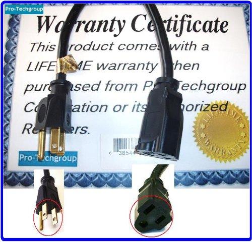 Price comparison product image Pro-Techgroup Premium Grade 100 ft Heavy Duty 12AWG Power Cord Extension Cable - SJTW 12/3C NEMA 5-15P TO NEMA 5-15R (15A/125V)