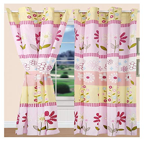 All American Collection Teens/Girls Bedspread and Pillow Sham Set | Matching Curtains Available! (Panel)