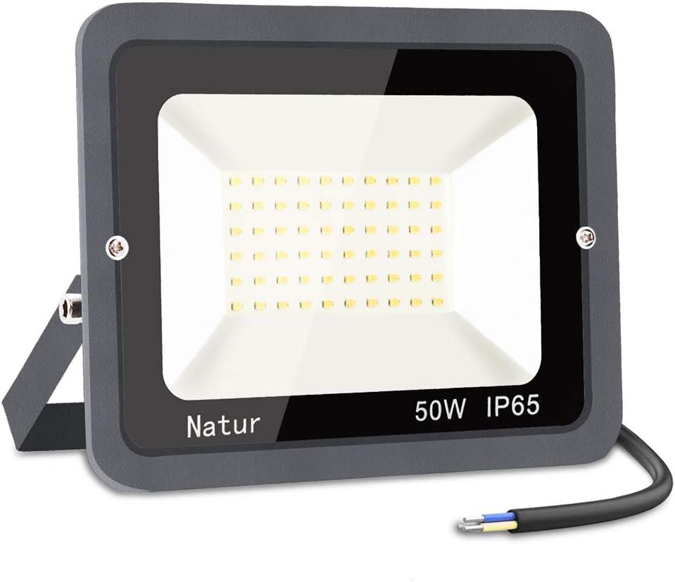 50W LED Foco Exterior,bapro 6000k Alto Brillo Proyector Led,Impermeable IP65 Floodlight Led Iluminación para Patio, Camino, Jardín, Almacén (Blanco frío,50W)[Clase de Eficiencia Energética A++]