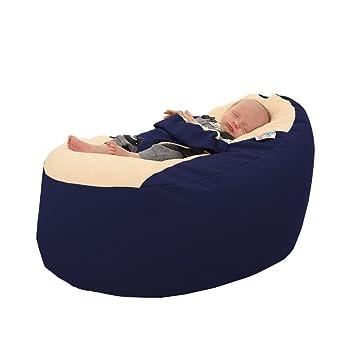 Rucomfy Gaga Plus - Puf para bebé y bebé, color azul marino ...