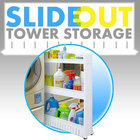 Storage Dynamics JB6032 Slide Out Storage - Narrow Wall Storage Cabinet