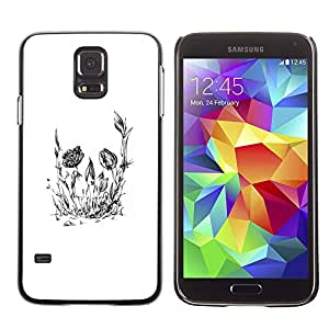 Eason Shop / Hard Slim Snap-On Case Cover Shell - Floral Flower Skull - For Samsung Galaxy S5