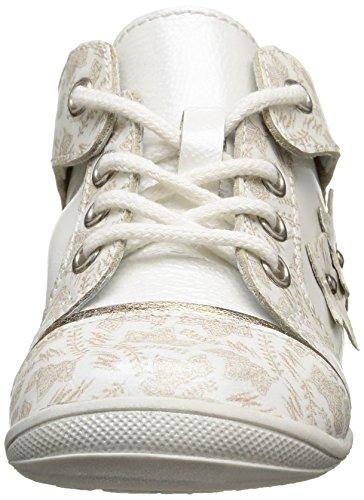 GBB Mae - Zapatos de primeros pasos Bebé-Niños Blanco - Blanc (39 Vvn Blanc/Imprimé Dpf/Kezia)