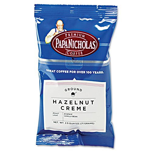 PapaNicholas Coffee Hazelnut Creme-flavored Coffee Ground - Regular - Hazelnut Creme, Arabica Bean - Light/Mild - 18 / (Creme Flavored Regular Coffee)