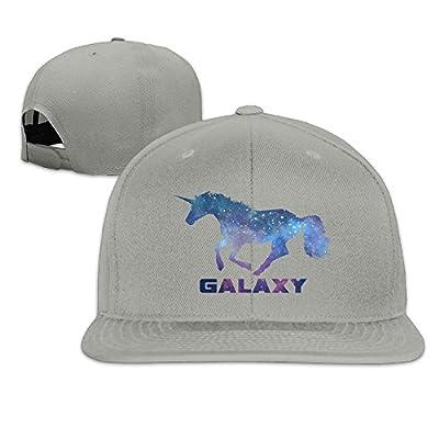 F5sw Caps Galaxy Glittering Unicorn Unisex Premium Flat Baseball Cap Adjustable Dad Hat