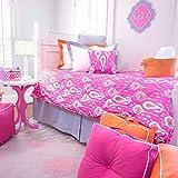 LeighDeux Duvet - Carson Fuchsia XL Twin Bedding for Dorm