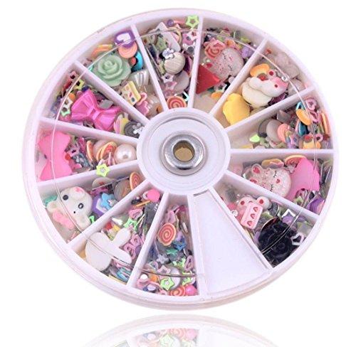 1200-PcsOutstanding Popular 3D Nail Art Wheel Full Design