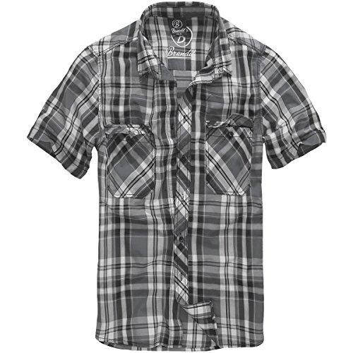 Brandit Hommes Roadstar Shirt Noir / Anthracite