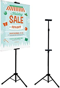 LCCMarket Double-Sided Easel Stand,Poster Holder Adjustable up to 73 inches Sign Stand for Display