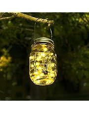 Luces De Jardin Solares - Luces De Exterior Jardin Impermeable Cadena De Luces Led Foco Solar Led Exterior Para Jardín, Patio, Terraza, Garaje, Camino de Entrada, Escaleras, Camino de Iluminación