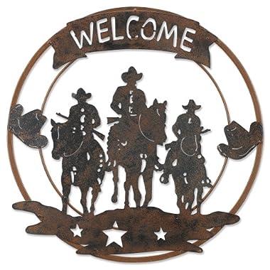 Sunset Vista Design Studios Metal Horsemen Welcome Sign