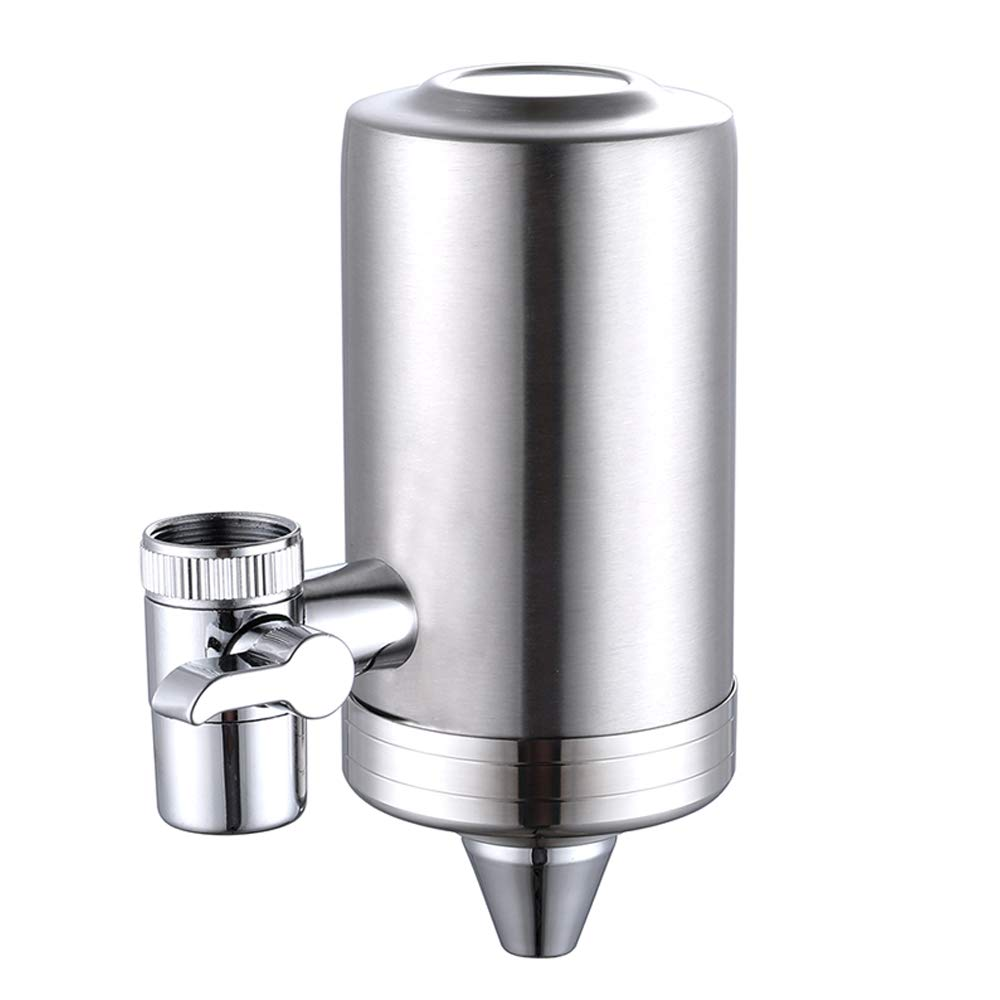 ESOW Faucet Mount Water Filter, SUS 304 Stainless Steel Reduce Chlorine, Lead, BPA Free, Water Purifier with 7-Layer ACF Filtration System, Tap Water Purifier Filtration System Fits Standard Faucets by ESOW