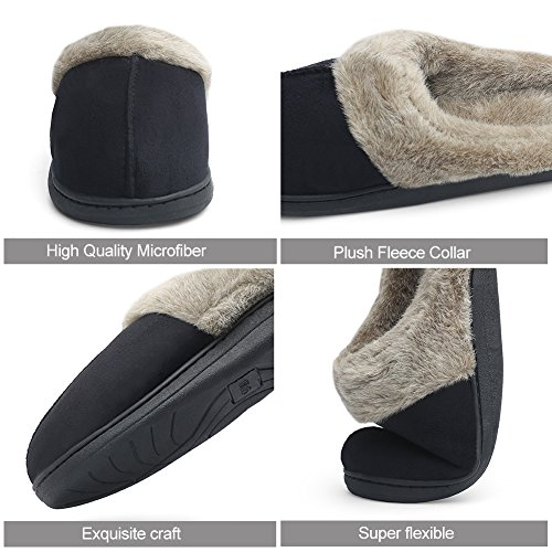 CIOR Womens and Mens House Slippers Cashmere Cotton Knitted Anti-Slip Winter Warm Breathable Indoor Shoes 08brown vMErXVM