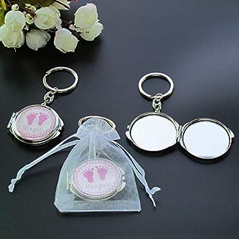 Amazon.com: Baby Girl Rosa Espejo Compacto de ducha favor ...