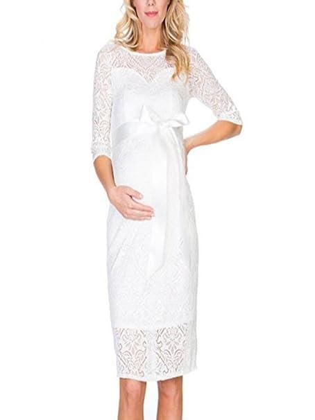 Gusspower Vestido de Noche de Mujeres Embarazadas, Vestido ...