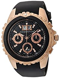 Momentum Men's 1M-DV24B4B D6 Chrono Analog Display Japanese Quartz Black Watch
