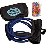 Water Waves Balloon Launcher - 3 Person Balloon Slingshot - Up to 500 Yards - 150 BALLOONS INCLUDED (Blue, 1 PACK)