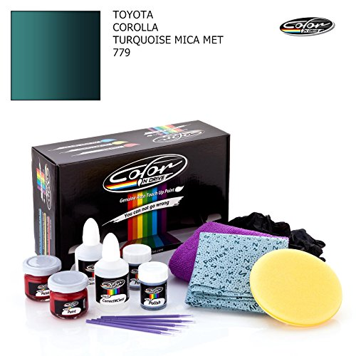 TOYOTA COROLLA / TURQUOISE MICA MET - 779 / COLOR N DRIVE TOUCH UP PAINT SYSTEM FOR PAINT CHIPS AND SCRATCHES / PRO PACK