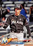 #4: 2018 Topps #170 Christian Yelich Miami Marlins Baseball Card