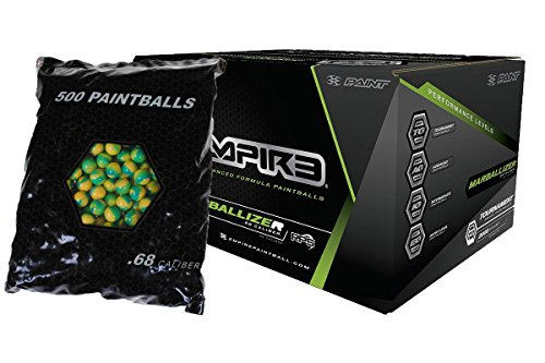 (Empire MARBALLIZER Case of 2000 Paintballs - Blue Swirl/Yellow Fill )
