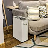 Chrislley Slim Rolling Laundry Hamper with Wheels