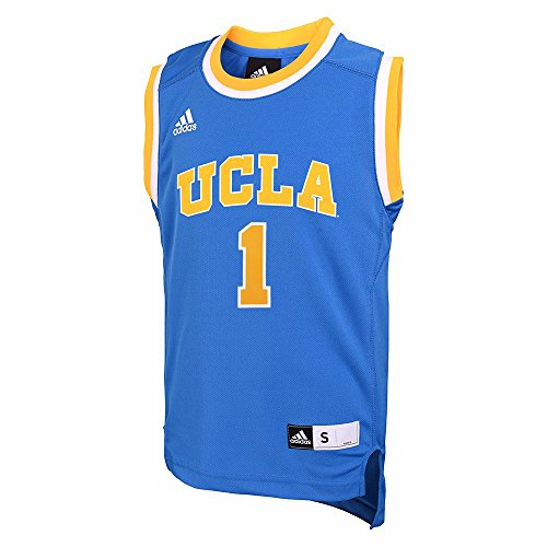 Adidas Ucla Bruins Ncaa Light Blue Official Home Replica  1 Basketball Jersey For Boys  5 6