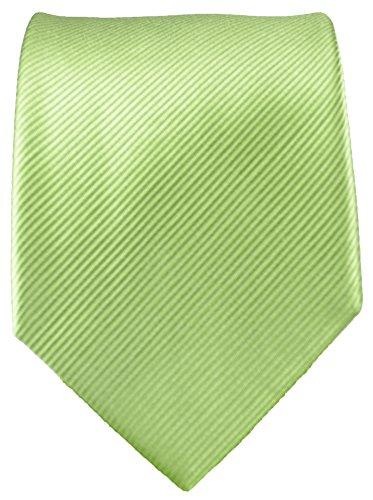 Cravate vert uni ensemble de cravate 3 Pièces ( 100% Soie Cravate + Mouchoir + Boutons de manchette )